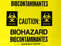 Biohazard Message Low Density Gusseted Liner