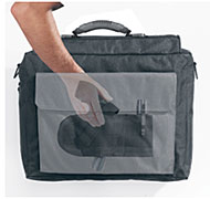 Police Briefcase with Hidden Gun Hoster